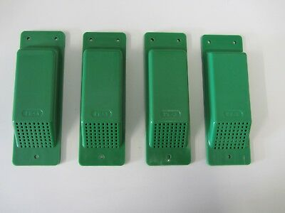 Air Vents 4 Shipping/Storage Containers.Set of 4 Lt Green Easy Fit Free Delivery