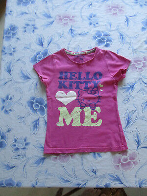 afeb7ae4f34ae tee-shirt rose Taille 5Ans Marque Hello Kitty Fille occasion