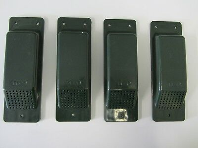 Air Vents 4 Shipping/Storage Containers.Set of 4 Dk Green Easy Fit Free Delivery