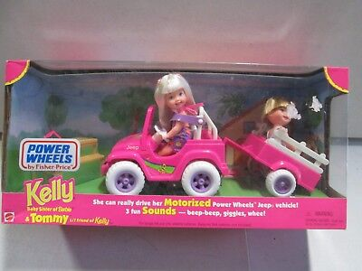 BARBIE KELLY AND Tommy Power Wheels Pink Version