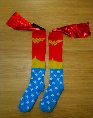 Officially Licensed DC Comics Wonder Woman Movie Caped Knee High Socks