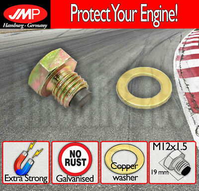 JMP Magnetic Oil Drain Plug - M12x1.5 + washer for Yamaha FS1G