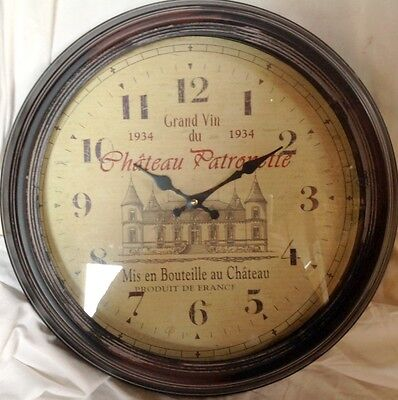 Wall Clock Chateau Patronette round Gift Vintage Aesthetics Rarity One Jumper