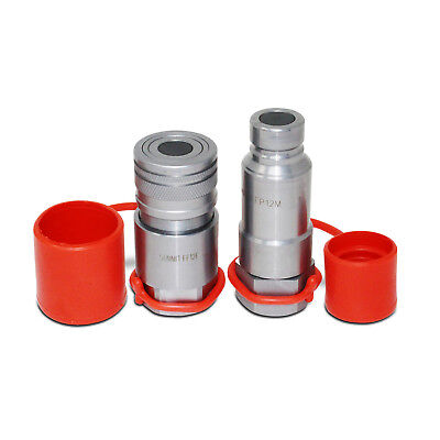 3/4″ NPT Flat Face Connect Under Pressure Hydraulic Quick Connect Coupler Set