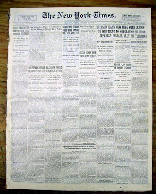 Learned 1931 Ny Times Newspaper Gangster Legs Diamond Shot In Catskills @ Cairo New York Newspapers Historical Memorabilia
