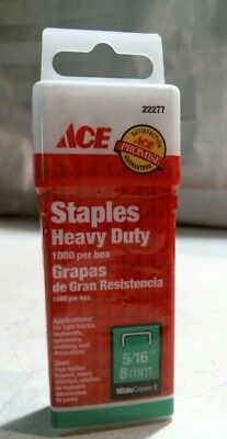 """Ace 22277 Heavy Duty Staple 5/16"""" 8MM Wide Crown ll FREE SHIPPING"""
