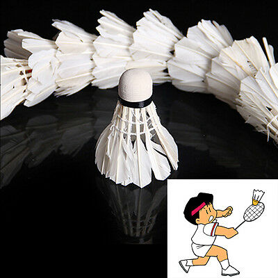5Pcs Game Sport Training White Duck Feather Shuttlecocks Birdies Badminton FL Weitere Ballsportarten Bälle