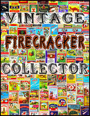 Beautiful Vintage Firecracker Collector Art Sign Ready To Frame Nice! *p54
