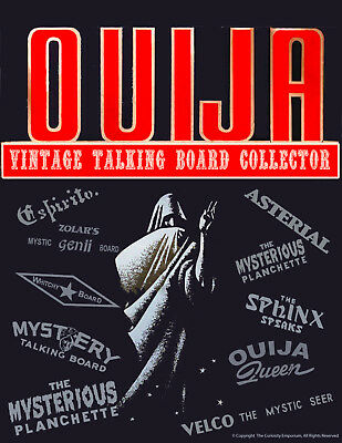 Beautiful Vintage Ouija Board Collector Art Sign Ready To Frame Nice! *p55