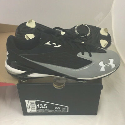 Nuevo Hombre Under Armour Natural II pro st Beisbol Tacos Talla 15M NEGRO / Gris