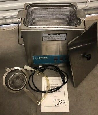 Crest POWERSONIC CP1100D 3.25 Gal. Heated Ultrasonic Cleaner W/Basket + Tools
