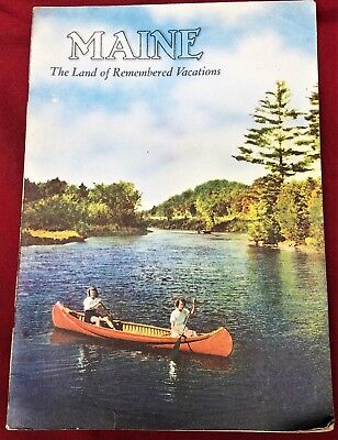 VINTAGE Maine Tourist Guide, ca. 1950s, Land of Remembered Vacations, GOOD cond