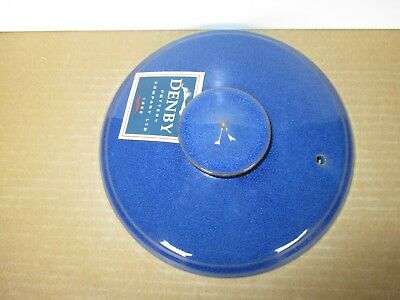 Denby Imperial Blue LID for Covered Vegetable Dish New First Quality Excel Cond