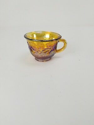 Set of 12 Carnival Glass Indiana Glass Harvest Grape Marigold Punch Cups