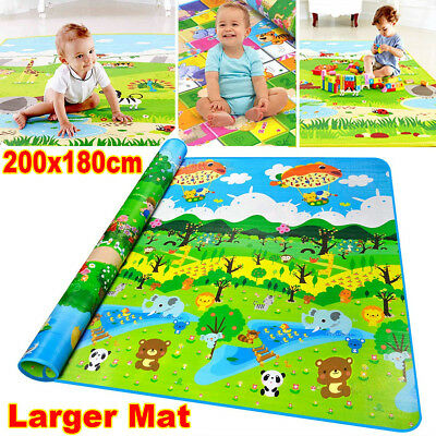2mx1.8m XXL Baby Kids Floor Play Mat Rug Waterproof Picnic Cushion Crawling Mat