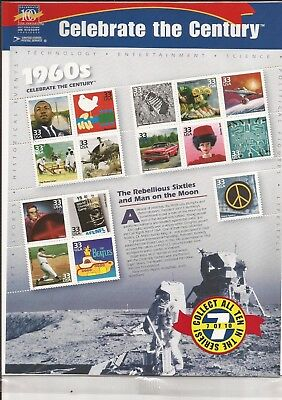 Scott #3188  Celebrate the Century 1960s  SHEET OF15 MINT MNH FV $4.95 Sealed