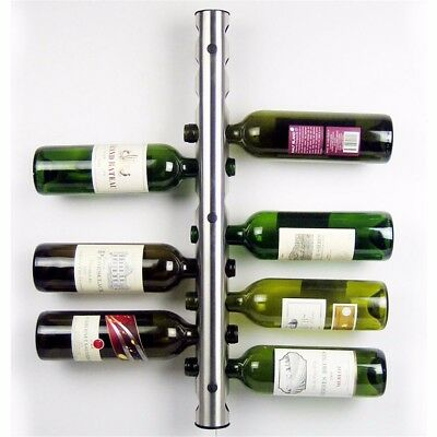 8 Hole Stainless Steel Bottle Wine Rack Kitchen Wall Mounted Holder Stand Bar