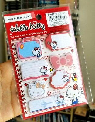 Cute Hello Kitty Sticky Notes Memo Note Pads Post-it Sanrio Japan Bookmark NEWe