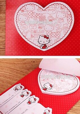 Heart Hello Kitty Sticky Notes Memo Note Pads Sanrio Japan Kawaii Bookmark