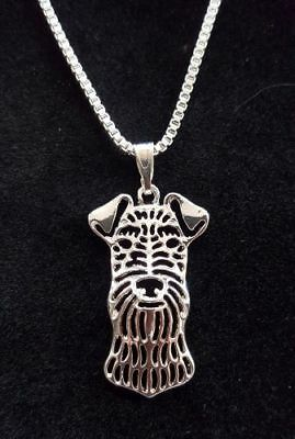 """Airedale Terrier Dog Cute necklace 18"""""""