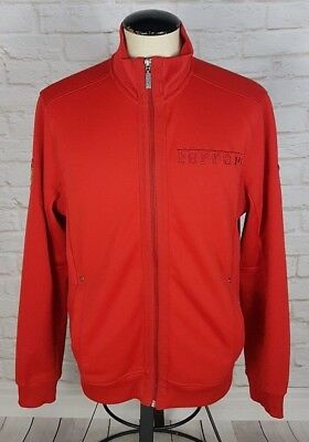 Puma Scuderia Ferrari Men's Medium Spell Out Racing Soft Shell Jacket Coat RED