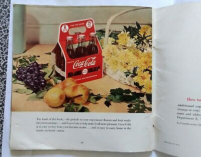 1949 Coca-Cola pictures booklet on flower arranging