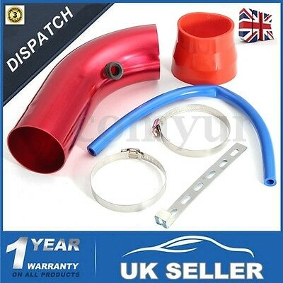Rosso 3''/ 75mm Universal Car Cold Air Intake Induction Pipe Filter Tube Kit