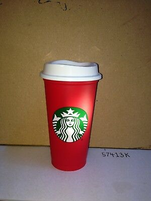 Starbucks Coffee Reusable 16oz Red Cup XMAS Christmas Holiday 2018 NEW w/Sticker