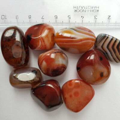Lots Natural Madagascar Banded Agate Stone Specimen Tumbled Crystals Craft New