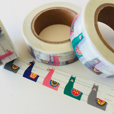 Washi Tape Llama Alpaca 15Mm X 10Mtr Planner Craft Wrap Mail Art