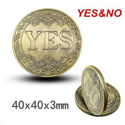 1pcs Floral YES NO Letter Commemorative Challenge Coin Ornaments Arts Collection