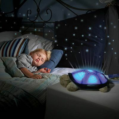 Turtle Star Sky Projection Lamp Musical LED Night Light Kids Sleep Bedroom us