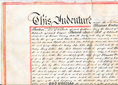 North Kapunda Mining Company Deed (parchment), 1851