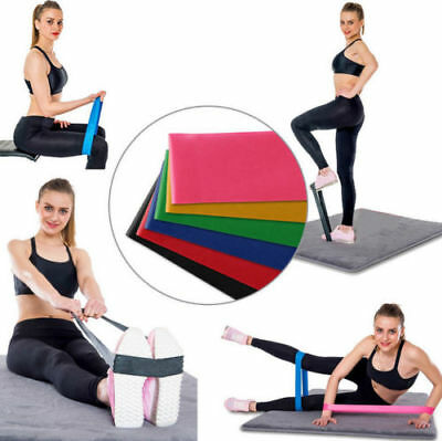 6/4/1PCS Sports Exercise Resistance Loop Bands Set Elastic Booty Band Set GYM AU