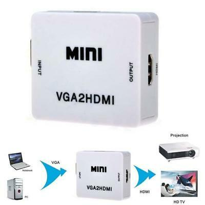 VGA to HDMI Full HD Video 1080P Converter Box Adapter for PC Laptop DVD HDTV New