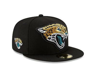 first rate b3587 ec12a Jacksonville Jaguars FRAME FRONT Fitted 59Fifty New Era NFL Hat - Black