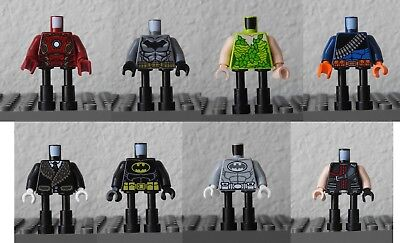 Lego Super Heroes Torso Batman Logo in White Oval with Muscles Pattern #SH2