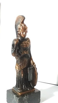 Ancient Greek Goddess Athena Vintage Metal Bronze Statue 1955-60