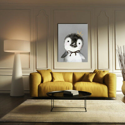 B512 35x45cm Cute-Animals Penguin Wall Oil-Painting Home-Decoration Art-Poster