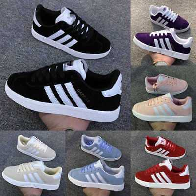 UK Hot Mens Womens Superstars City Trainers Lace up Sports Running Fitness Shoes