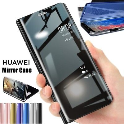 For Huawei Mate 20 Pro / Lite Clear View Smart Mirror Flip Stand Case Cover P/AB