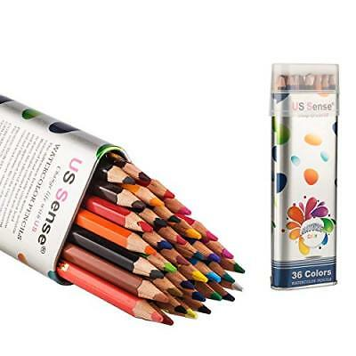 ❤ Us Sense Colored Pencils Watercolor Coloring 36 Art Supplies Premium Dr ❤ New
