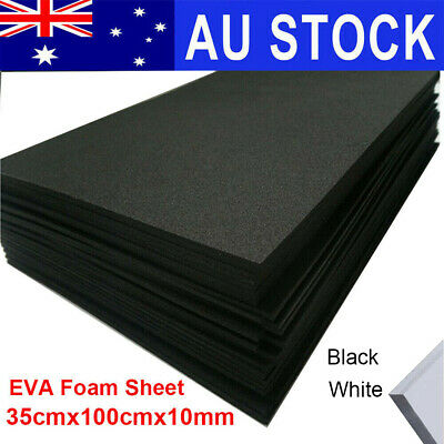 10mm EVA Foam Sheets 35x100cm Kids Black White Sponge Handmade Model DIY Cosplay