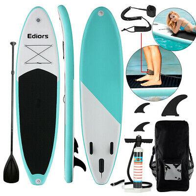 "Inflatable SUP Stand Up Paddle Board Surfing Board Surf Yoga 10Ft (6""thick) 7in1"