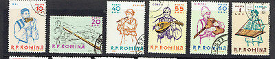 Romania 1961 Musical Instruments Complete Set - Fine Used