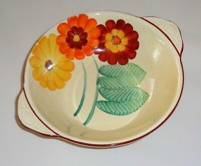 Vintage Art Deco Studio Pottery Gray's Pottery Hand Painted Floral Bowl