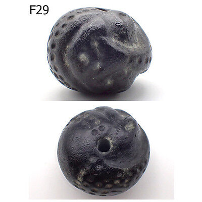 Ancient Natural Stone Bead Medieval Dragon Carved Rare #F29
