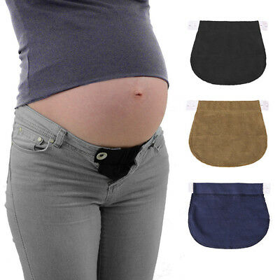 2PCS Maternity Pregnancy Waistband Belt Adjustable Jean Waist Pants Extender AU