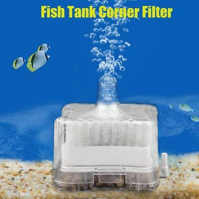 Mini Aquarium Air Biochemical Sponge Fish Tank Corner Filter Oxygen Pump Tools A