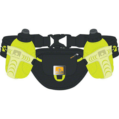 Nathan Trail Mix Insulated Hydration Belt with two 10oz Bottles One Size Black
